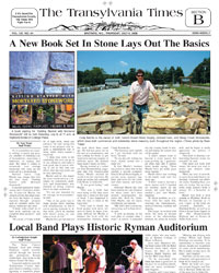 Steep Creek Stone Transylvania TImes article